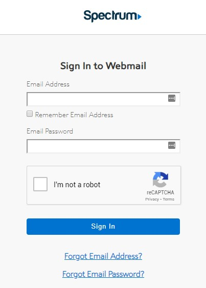 spectrum webmail login